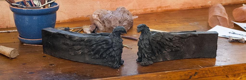 Sentinel Eagle Sculpture by Pablo Eduardo