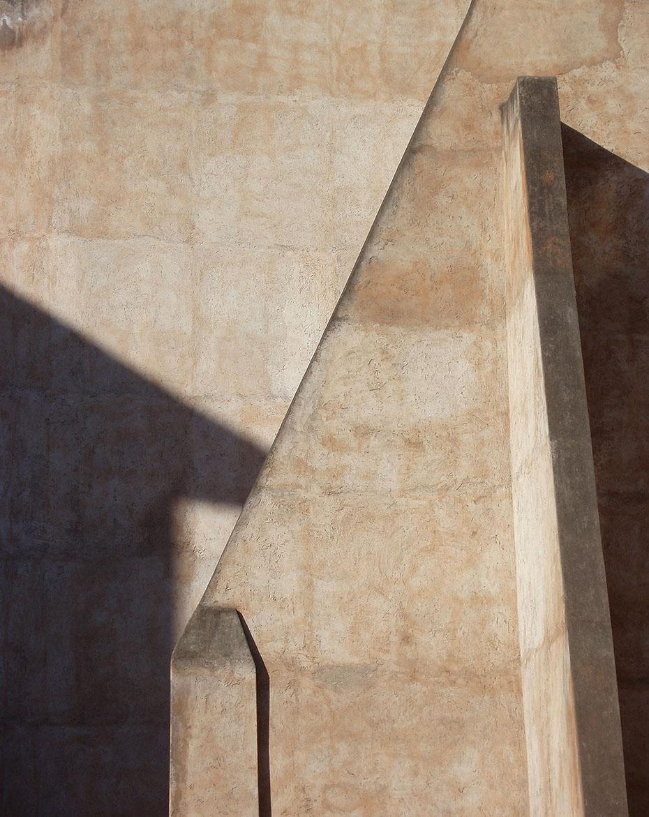 Concrete facade in Rome Italy