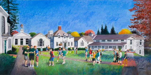 Original Oil Painting of Fenn Campus by Randall Imai
