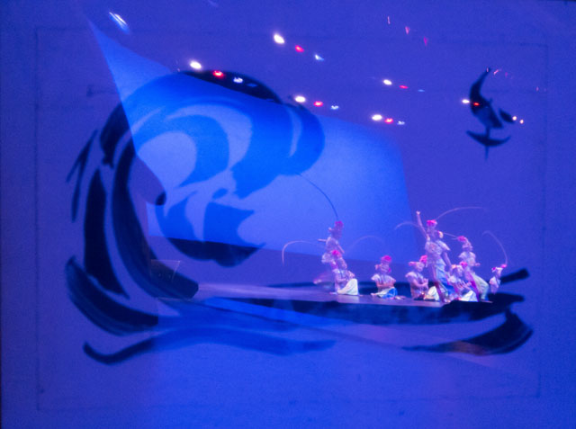 Cyanotype by John Pauplis with Lunar New Year performance celebration reflections